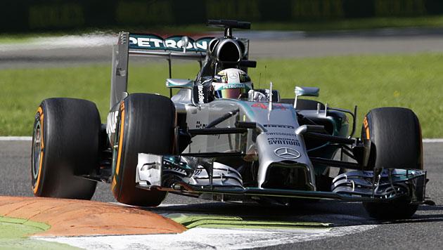 Hamilton auch im dritten Monza-Training voran (Bild: AP)