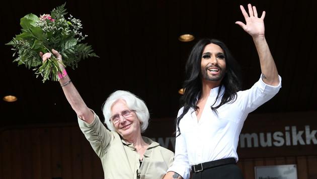 Conchita Wurst gratulierte ihrer Großmutter zum Geburtstag. (Bild: Jürgen Radspieler)