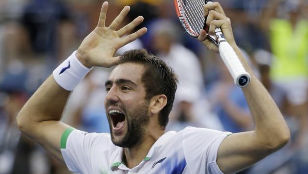 Marin Cilic schaffte es in sein erstes Grand-Slam-Finale (Bild: AP)