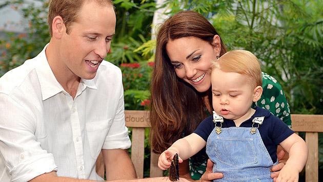 Herzogin Kate ist zum zweiten Mal schwanger (Bild: APA/EPA/John Stillwell)
