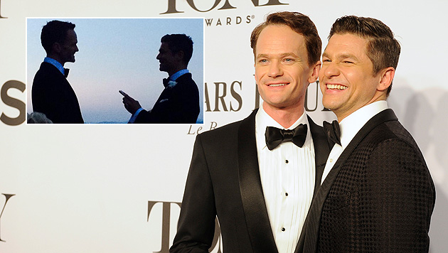 Neil Patrick Harris hat Freund David geheiratet (Bild: twitter.com/ActuallyNPH, Charles Sykes/Invision/AP)