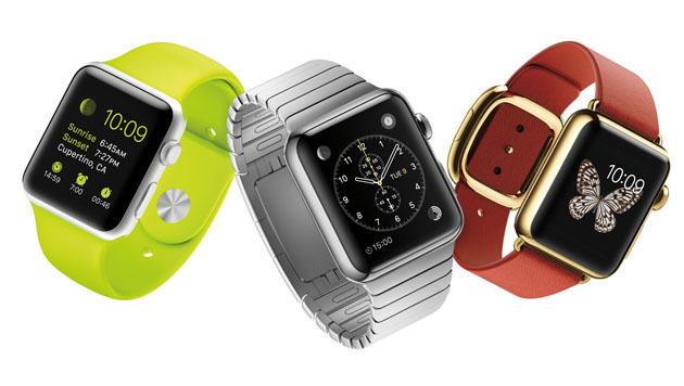 Die Apple Watch kommt in zwei Größen und mit verschiedenen Armbändern. (Bild: Apple)