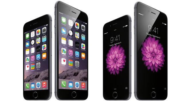 Apple bringt zwei neue iPhones: Das 4,7-Zoll-Gerät iPhone 6 und das iPhone 6 Plus mit 5,5 Zoll. (Bild: Apple)