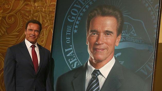 Ex-Gouverneur Arnold Schwarzenegger ist nun mit einem Porträt im Kapitol von  Sacramento verewigt. (Bild: AP)