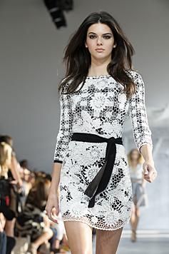 Kendall Jenner lief auf der New York Fashion Week auch für Diane Von Furstenberg. (Bild: AP)
