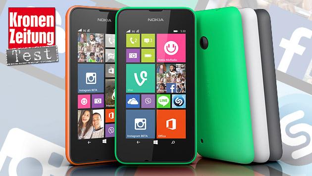 Lumia 530: Das 99-Euro-Smartphone im krone.at-Test (Bild: Nokia, krone.at-Grafik)
