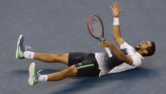 Marin Cilic siegt nach Super-Show bei US Open (Bild: AP)
