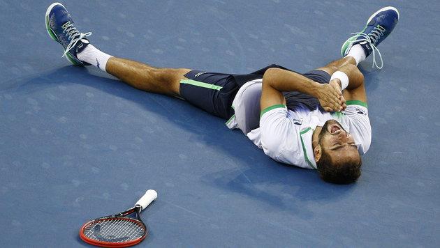 Marin Cilic siegt nach Super-Show bei US Open (Bild: APA/EPA/ANDREW GOMBERT)