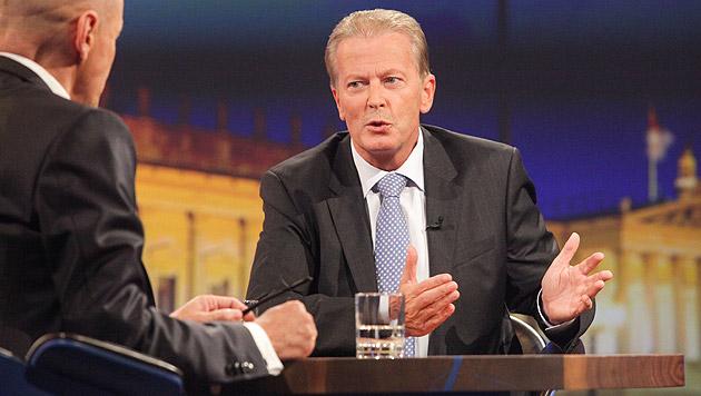 """Mitterlehner: """"Steuerreform ist wie ein Hausumbau"""" (Bild: ORF/Günther Pichlkostner)"""