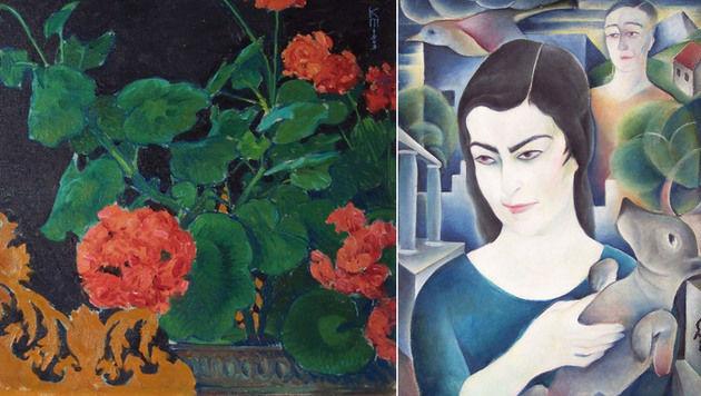 Zwei der gestohlenen Gemälde (Bild: APA/BMI)