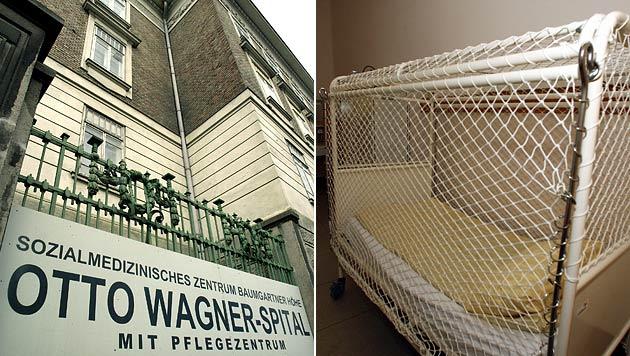 Im Otto-Wagner-Spital wurden zwischen den 60er und 80er Jahren behinderte Kinder misshandelt. (Bild: APA/GUENTER R. ARTINGER, APA/HERBERT PFARRHOFER)