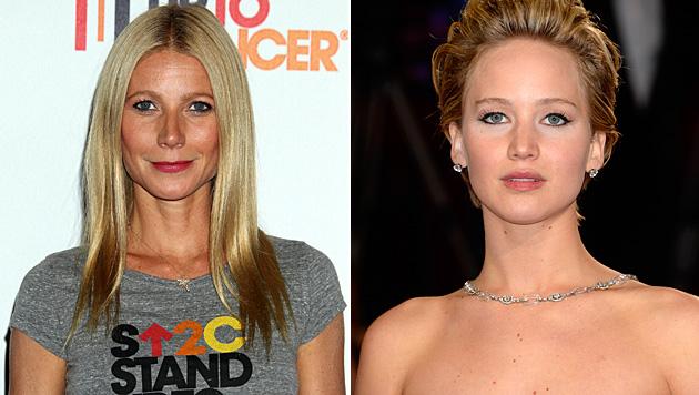 Gwyneth Paltrow ist nicht erfreut über den Nacktskandal rund um Jennifer Lawrence. (Bild: Jordan Strauss/Invision/AP, Dan Steinberg/Invision/AP)