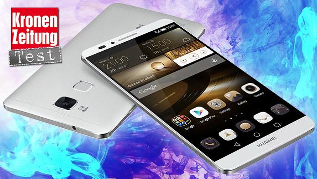 Huawei Ascend Mate 7: Starker Alu-Gigant im Test (Bild: Huawei, thinkstockphotos.de, krone.at-Grafik)