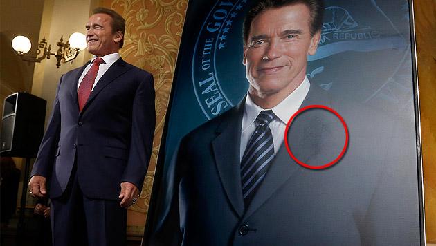 Maria Shriver aus Schwarzenegger-Porträt entfernt (Bild: AP)