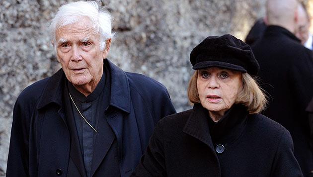 Joachim Fuchsberger und seine Frau Gundel (Bild: dpa/Andreas Gebert)