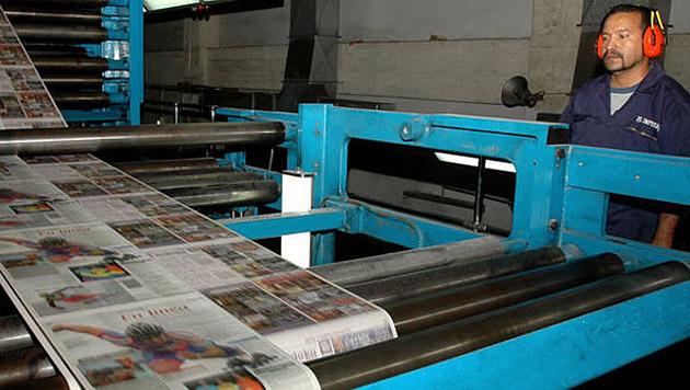Zeitung stellt Druckausgabe wegen Papiermangel ein (Bild: El Impulso)