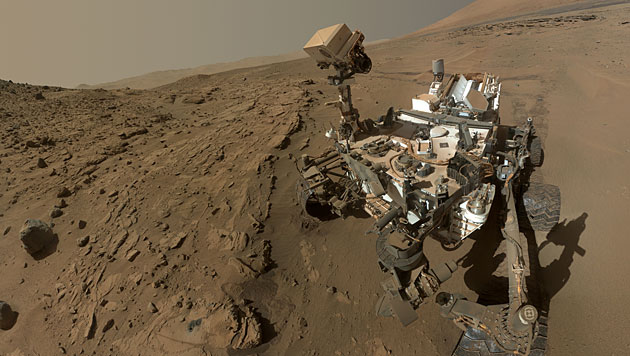 """Selbstporträt des Rovers """"Curiosity"""" (Bild: NASA/JPL-Caltech/MSSS)"""