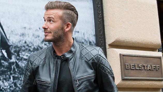 David Beckham hat für Belstaff eine Bikerjacken-Kollektion entworfen. (Bild: AP)