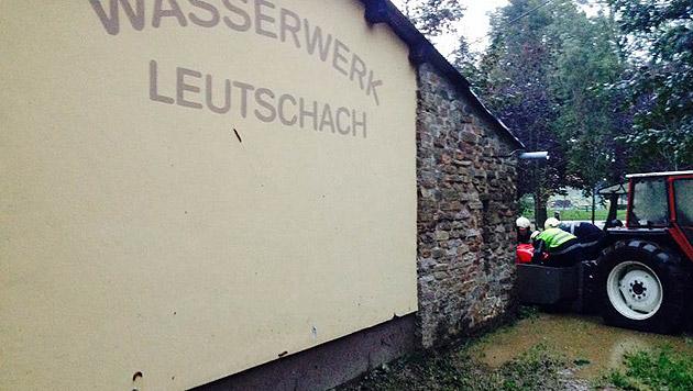 Überschwemmungen in Leutschach (Bild: APA/BFV LEIBNITZ)