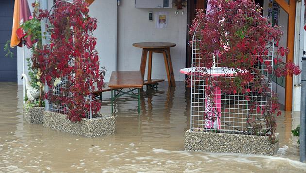 Überschwemmungen im Großraum Feldbach in der Steiermark (Bild: APA/LFV/MEIER)