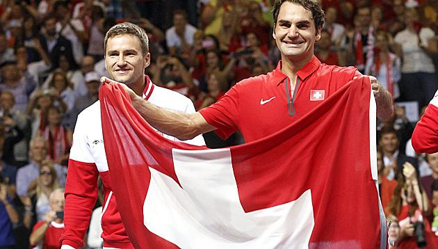 Schweiz zum 2. Mal nach 1992 im Davis-Cup-Finale (Bild: APA/EPA/SALVATORE DI NOLFI)