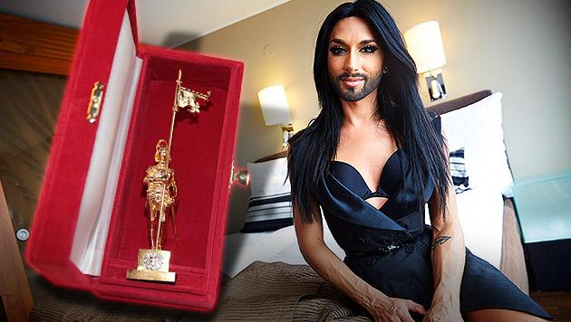 """Conchita Wurst erhält """"Goldenen Rathausmann"""" (Bild: APA/EPA/ERWIN SCHERIAU, Kristian Bissuti, krone.at-Grafik)"""