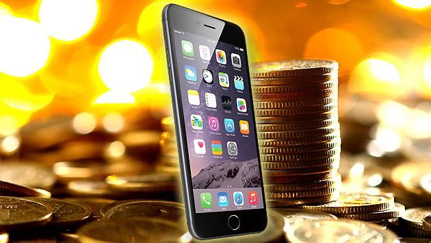 iPhone sorgt weiterhin für Geldregen bei Apple (Bild: Apple, thinkstockphotos.de, krone.at-Grafik)