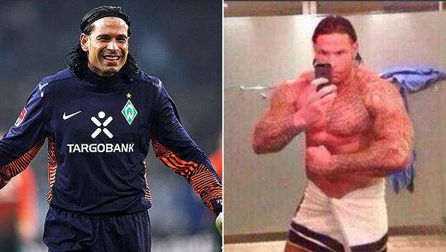 Tim Wiese: Vom Teamtorhüter zum Wrestler? (Bild: CHRISTIAN CHARISIUS / EPA / picturedesk.com, Twitter/Postillon)