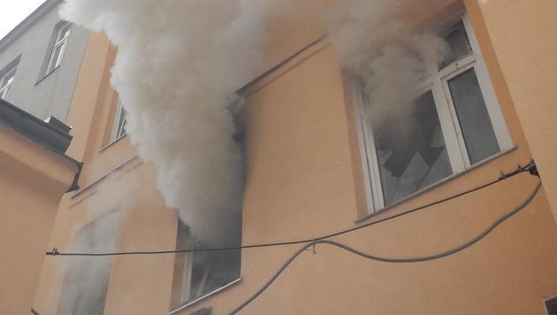 Die Wohnung wurde komplett verrußt. (Bild: MA 68 Lichtbildstelle)