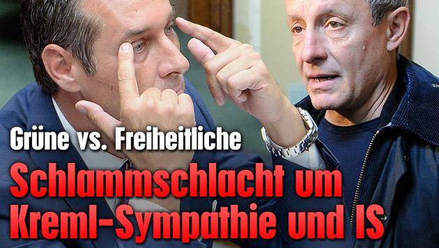 Schlammschlacht um Sympathie f�r Kreml und IS (Bild: APA/ROBERT JAEGER, APA/HELMUT FOHRINGER)