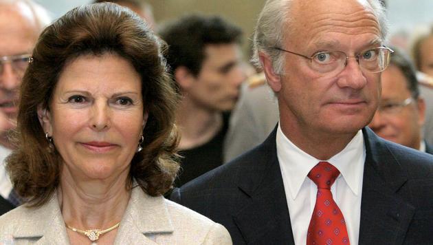 König Carl XVI. Gustaf mit seiner Frau Königin Silvia (Bild: JENS WOLF)