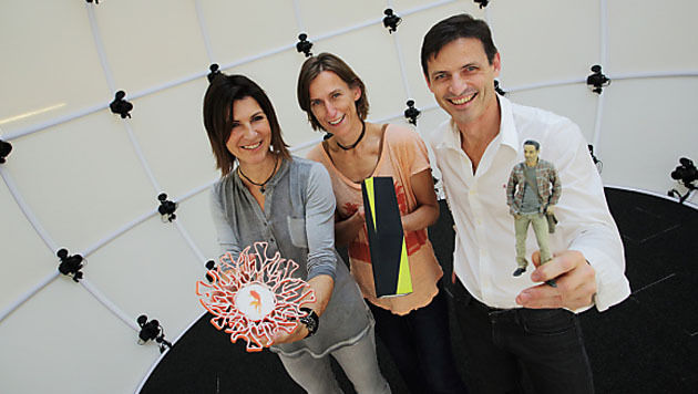 Start-up macht Grazer dank 3D-Drucker zur Skulptur (Bild: APA/J.J.KUCEK)
