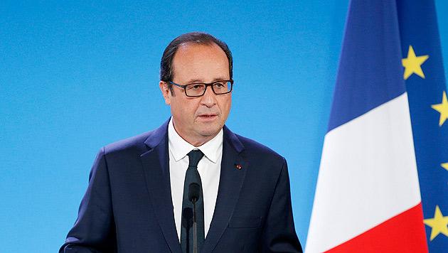 Frankreichs Präsident Francois Hollande (Bild: APA/EPA/YOAN VALAT)