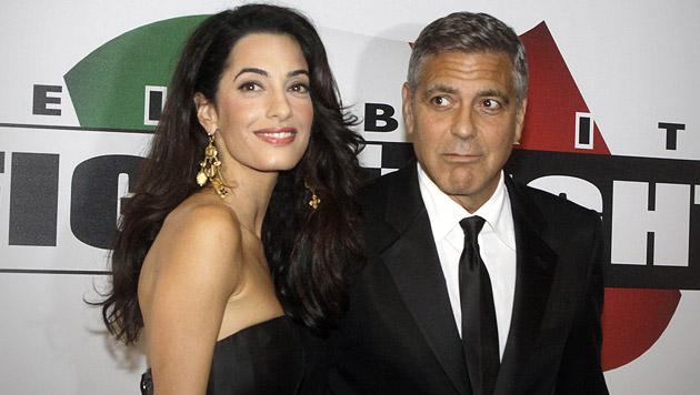 Traumpaar: Amal Alamuddin und George Clooney (Bild: AP)
