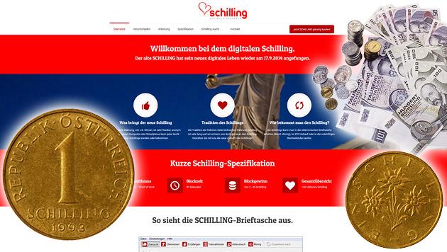 Rätselraten um digitale Rückkehr des Schillings (Bild: eschilling.org, thinkstockphotos.de)