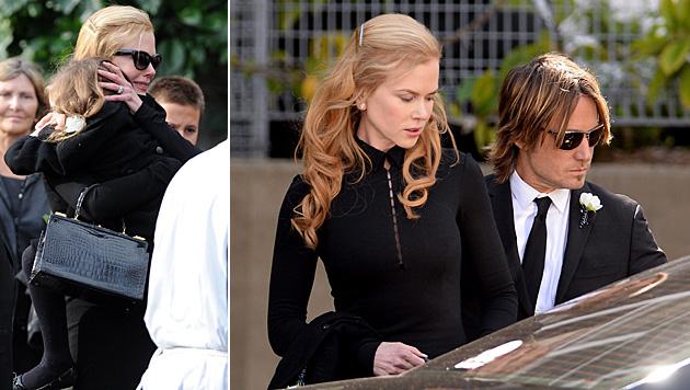 Nicole Kidman mit ihrer Tochter und Ehemann Keith Urban (Bild: APA/EPA/DAN HIMBRECHTS)