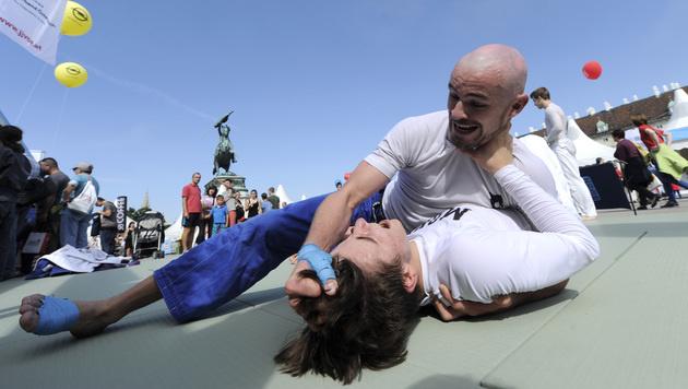Besucherrekord und Starauflauf beim Tag des Sports (Bild: APA/HERBERT PFARRHOFER)