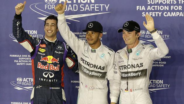 Sieben Tausendstel vor Rosberg: Hamilton holt Pole (Bild: AP)