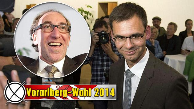 Landeshauptmann Wallner flirtet bereits mit Grünen (Bild: APA/GEORG HOCHMUTH, APA/DIETMAR STIPLOVSEK, krone.at-Grafik)