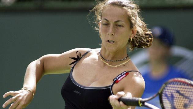 Spaniens First Tennis-Lady: Gala Leon (hier in Indian Wells 2004) ist Davis-Cup-Kapitän. (Bild: EPA/Mike Fiala)