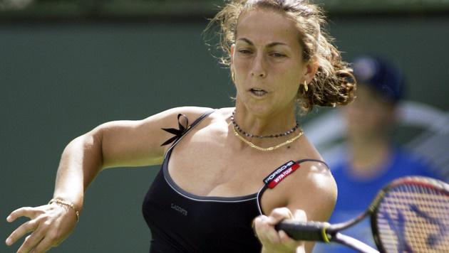 "Lang ist""s her: Gala Leon 2004 in Indian Wells. Jetzt ist sie Davis-Cup-Kapitän. (Bild: EPA/Mike Fiala)"