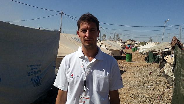 Walter Hajek bereitete im Nordirak die geplanten Hilfsleistungen aus Österreich für den Winter vor. (Bild: Österreichisches Rotes Kreuz)
