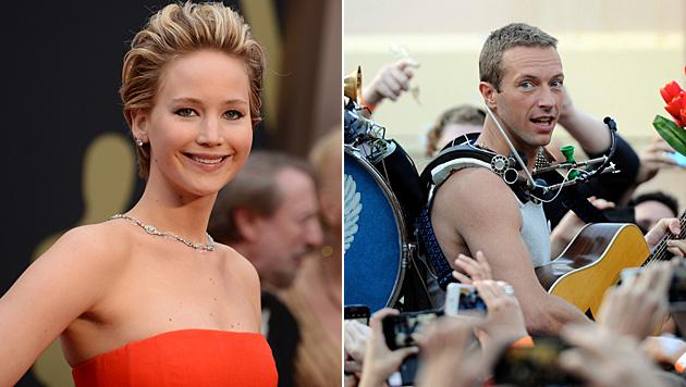 Seit Kurzem erst sind Jennifer Lawrence und Chris Martin liiert. Sie ist 24, er 37. (Bild: Jordan Strauss/Invision/AP, APA/EPA/DEAN LEWIS,)