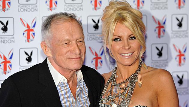 60 Jahre trennen Hugh Hefner und seine Ehefrau Crystal Harris. (Bild: DANIEL DEME/EPA/picturedesk.com)