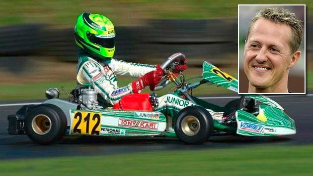Schumacher-Sohn rast bei Kart-WM zu Silber! (Bild: twitter.com, APA/dpa)