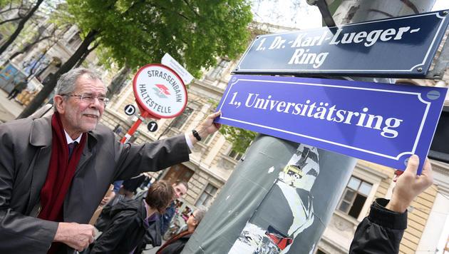 Der Dr.-Karl-Lueger-Ring wurde bereits in Universitätsring umbenannt. (Bild: APA/GEORG HOCHMUTH)
