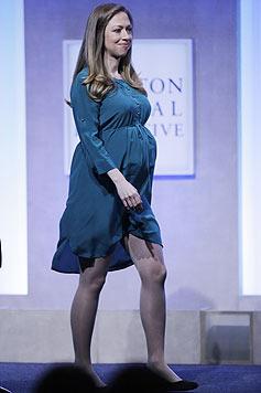 Die Clinton-Tochter steht bereits kurz vor der Entbindung ihres ersten Kindes. (Bild: AFP)