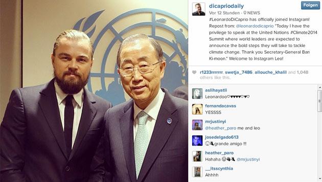 Leonardo DiCaprio ist jetzt auf Instagram. (Bild: instagram.com/dicapriodaily)