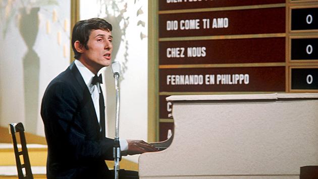 Beim Grand Prix d'Eurovision de la Chanson 1966 in Luxemburg belegte er Platz 1 mit 'Merci Chérie'. (Bild: APA/dpa)