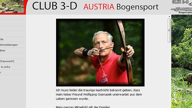 Bogenschütze stirbt drei Tage nach Medaillengewinn (Bild: Screenshot club3-d.com)